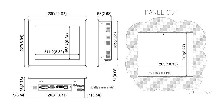 COMFILE CUPC CPCV5-102BR Dimension
